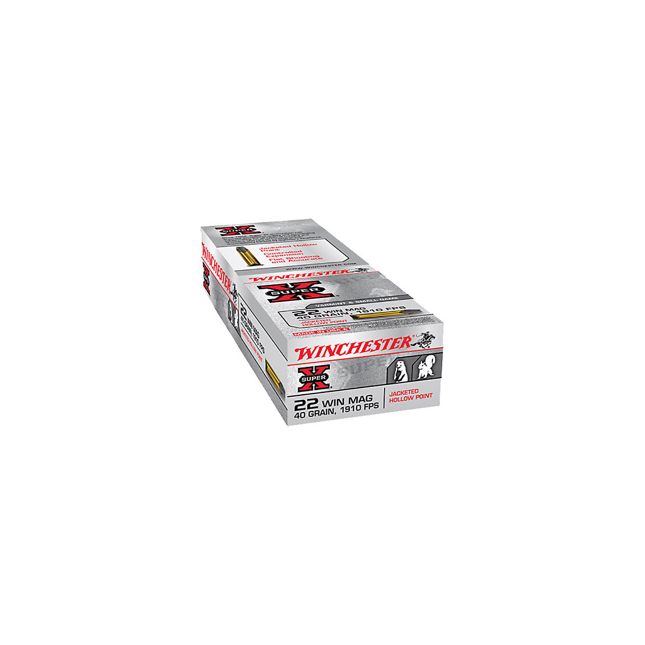 Winchester Super-X .22 Winchester Magnum Jacketed Hollow-Point Ammunition